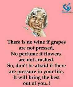 don't be afraid if there are pressure in your life. Apj Quotes, Lesson Quotes, Words Quotes, Motivational Quotes, Inspirational Quotes, Sayings, People Quotes, Hindi Quotes, Genius Quotes