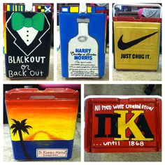 Small Custom Painted Cooler  Made to Order by CustomCanvasesByCase, $50.00