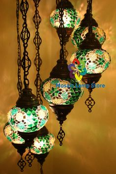 Lamp Mosaic Lamp Brass Metal Handmade Lamp by MosaicLampStore