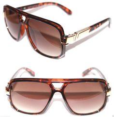 Vintage 627 Aviator Sunglasses Brown Gold Frame Brown Lens Men's Grandmaster 564 #Unbranded #Retro