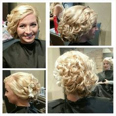 Beautiful vintage inspired updo By Designer Kate Weible