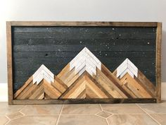 Rustic Mountain Wall Art, Wood Wall Art, Parquetry, Reclaimed Wood Wall Decor, W. Wood Wall Art Decor, Reclaimed Wood Wall Art, Rustic Wood Walls, Wooden Wall Art, Wood Art, Wall Wood, Wood Wall In Bathroom, Barn Wood Decor, Rustic Art
