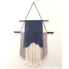 A personal favorite from my Etsy shop https://www.etsy.com/listing/233640731/double-layer-yarn-wall-hanging