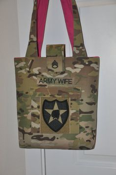 MultiCam Army Wife Purse & Wallet set by HomeFrontCouture on Etsy, $60.00