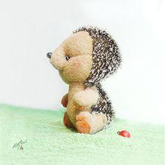 Hedgehog Thorny Teddy Friend  Brownie  4 by KittyAprilHandmade, $76.00