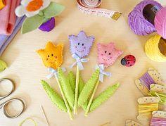 Flores • Tuilpa de Feltro (PAP com molde)