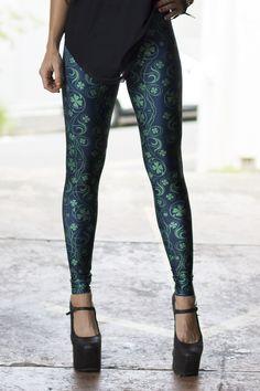 Luck of the Irish Black Leggings by Black MIlk Clothing