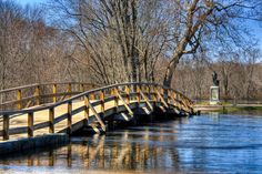 https://flic.kr/p/7Qx5MT | Old North Bridge & Minute Man Statue, Concord, Massachusetts - HDR | April 3, 2010 - Concord, Massachusetts  View On Black  Notice the high waters around the bridge and the Minute Man statue.  The Concord River flooded a lot of the area last week.  I had to walk through 2 feet of water to cross the Old North Bridge to get to the Minute Man statue.