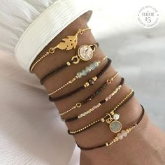 Mint15 Bracelets with brown and mint | www.mint15.nl