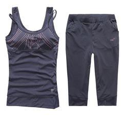 4 mujeres del Color deportes Top   yoga de la ropa de traje de la mujer  deportiva para correr   pantalones gimnasio chaleco correr conjunto  deportes en Sets ... 52531be7d8bd