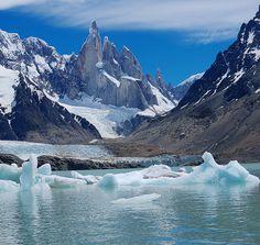 Cerro Torre and Laguna Torre, Patagonia