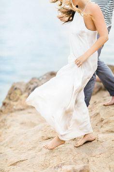 Elegant California Beach Engagement via OnceWed.com