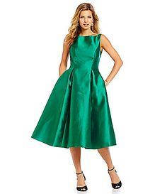 Adrianna Papell Sleeveless Midi Taffeta Dress #Dillards  I wish I had a party fancy enough to wear this to!