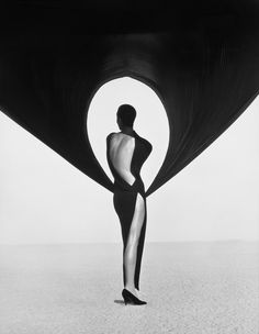 "Exhibition: 'Herb Ritts' at the Museum of Fine Arts, Boston. ""Another artist lost too soon to HIV/AIDS."" http://artblart.com/2015/11/02/exhibition-herb-ritts-at-the-museum-of-fine-arts-boston/ Photo: Herb Ritts (American, 1952-2002) 'Versace Dress, Back View, El Mirage' 1990"
