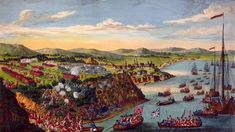 Painting depicting the Battle of the Plains of Abraham