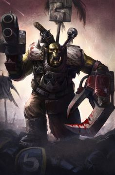 Google Image Result for http://fc49.deviantart.com/fs19/f/2007/255/8/5/Blood_and_Thunder__Ork_Warboss_by_wraithdt.jpg
