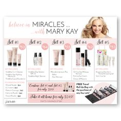 Believe in Miracles with Mary Kay Closing Sheet & Party Placemat! This placemat is customizable, you can edit the prices of the sets & some of the details on the bottom! Find it only at www.thepinkbubble.co!!