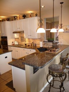 Kitchen upgrade ideas on pinterest brown granite maple cabinets and