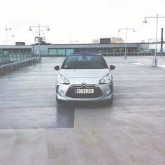 bengtssonsofia @ instagram. #citroends3cabrio #citroen #ds3 #cabrio #cabriolet #convertible #cab #soloparking #car #rainy #clouds #rims #symmetry #simplicity #sweden #swedish #sverige