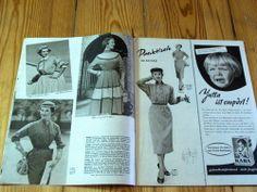 Modezeitschrift DER NEUE SCHNITT 2/1955 - 2 Schnittmuster-Bg 50er Jahre Mäntel   eBay