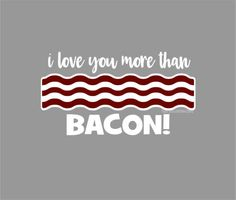 Bacon Decal laptop sticker funny quote love you by FairyDustDecals