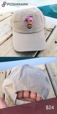Tupac Shakur Dad Hat Strapbacks Caps 100% cotton high quality caps.  Tupac shakur  Color: Khaki  - Shipped Via USPS 3-4 Days with Tracking.  *Please verify your shipping address is Correct. I am not responsible for such problems.   Embroidered & Usually shipped same or next day. If you order on a Friday, it will not ship until the following Monday. ALL BUSINESS IS TAKEN SERIOUSLY!   *IF YOU WOULD LIKE TO REQUEST A HAT TO BE IN A CERTAIN COLOR PLS SPECIFY IN THE PRIVATE MESSAGES.  *We…