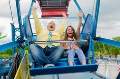Day 5 - Zach and student Alison, have fun on the Ferris Wheel!
