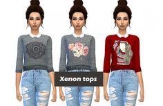 Kenzar Sims: Xenon-Tops • Sims 4 Downloads