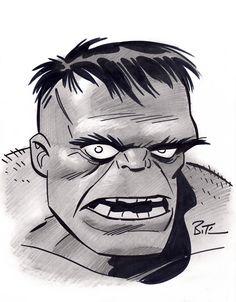 #Hulk #Fan #Art. (Hulk sketch) By: Bruce Timm. (THE * 5 * STÅR * ÅWARD * OF…