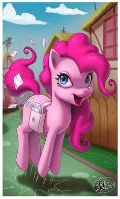Pinkie Pie delivering invitations