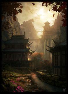 来 Shangri-La 来 SHANGRI-LA [noun] 1. a fictional place described in the novel Lost Horizon. 2. an imaginary paradise on earth, especially a remote and exotic utopia. 2. a faraway haven or hideaway of idyllic beauty and tranquility.