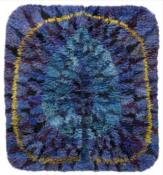 Ingrid Dessau; Wool 'Blue Sheets' Rya Rug, 1962.