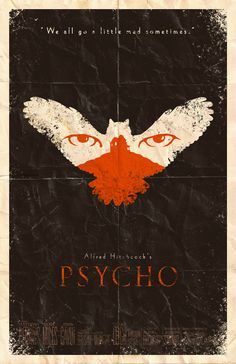 Psycho movie poster by Adam Rabalais.