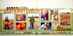 Inspiration: Multi-Photo 2 page horizontal layout :: At the Pumpkin Patch by Davinie