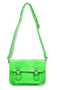Neon Handbag With Buckles Bag Accessories Pouches Tetra