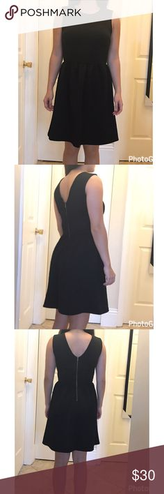 Sleeveless flared little black dress Little Black Dress with gold zipper closure in the back. Perfect for any occasion. Hits above knee (5'1 tall for reference? Dresses Mini