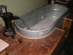 My horse trough jacuzzi. Feels good after a hard workout!