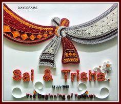 How amazing - Quilling Art Beadwork Wedding Quilling Ideas, Wedding Crafts, Quilling Dolls, Quilling Paper Craft, Quilling Work, Paper Crafts, Indian Wedding Favors, Desi Wedding Decor, Quiling Paper Art