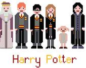 Harry Potter Cross Stitch Pattern (PDF) INSTANT DOWNLOAD - gift for Molly