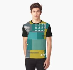 Geometric composition in the style of constructivism. Abstract stylish seamless pattern with geometric shapes. Circles, squares, stripes, lines. Cloth design. Wallpaper, wrapping • Also buy this artwork on apparel, stickers, phone cases, and more.