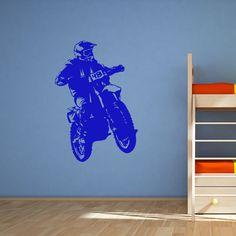Quality Motorbike Jump Sports Wall Sticker
