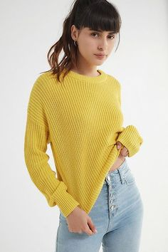 fef71a7516 UO Andi Pullover Crew-Neck Sweater Cardigans For Women