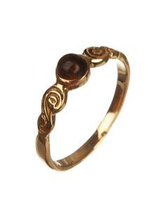 Simple Gold Plated Semi-precious Stone Ring | Rs. 230 | http://voylla.com