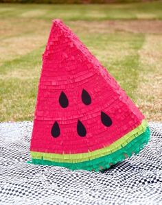 Amp up your party with a watermelon piñata.