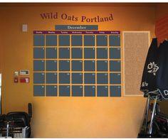 Wild Oats Chalkboard Calendar