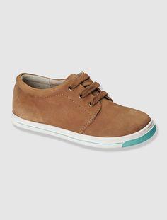 0cbfd336854 Zapatos bajos de piel niño MARRON MEDIO LISO