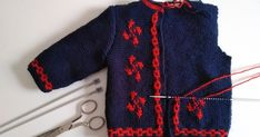 Blog sobre manualidades, tutoriales, ropa, lana, fieltro, broches, ganchillo, costura y tejer. Baby Knitting Patterns, Baby Girl Sweaters, Old Shirts, Tweed Jacket, Knit Cardigan, Crochet Baby, Embroidery Designs, Sewing, Basque Country