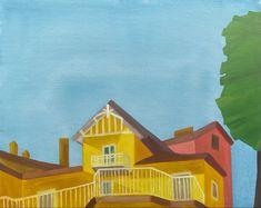 Umbrella Painting, Iris Painting, Boat Painting, Garden Painting, Lemon Painting, Summer Painting, Winter Painting, Venice Painting, Italy Painting