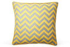 Zigzag 20x20 Pillow, Yellow