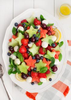 A Festive Fruit Salad with Lemon and Ginger